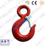 En acier carbone forgé en acier inoxydable// Crochet à oeil de levage avec la peinture rouge