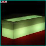 플라스틱 빛을내는 Prtable 바는 옥외 가구를 불이 켜진다