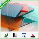 Strati protettivi UV del policarbonato della cavità della Due-Parete per il tetto del baldacchino & della serra