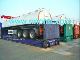 반 세 배 차축 화학 액체 유조선 트럭 트레일러 (HTC9400GHY)