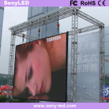 Im Freien P10mm farbenreicher LED Bildschirm zum Mietzweck