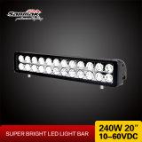 barra chiara di riga LED del CREE 240W di 20inch 10W doppia fuori strada