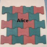 Крытая резиновый плитка/цветастый резиновый Paver/рециркулируют резиновый плитку (GT0101)