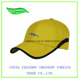 Nuovo berretto da baseball del ricamo della parte superiore di colore giallo di disegno 2017