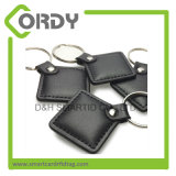 MIFARE personalizado 1K clássico RFID keyfob/keychain de couro