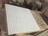 白い大理石の磨かれた小型煉瓦モザイク・タイル