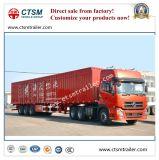 De tri-as Gesloten Dry Van Type Semi-Trailer Aanhangwagen van de Vrachtwagen