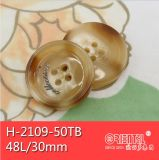 4holes Logo Imitation Horn Polyester Button