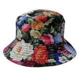 Chapéu da cubeta com tela floral (BT016)