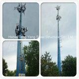 Única torre de comunicação galvanizada aço de Monopoles da câmara de ar