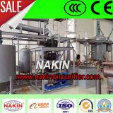Reciclagem de óleo de lubrificação de motor de lixo preto de 10 toneladas para refinarias de óleo de base amarela