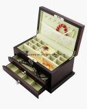 Boîte-cadeau en bois de luxe de bijou de fini de Matt