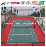 Le corti di tennis esterne antisdrucciolevoli, gomma mette in mostra la pavimentazione, stuoia di gomma