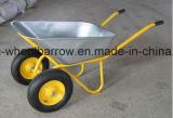 南アメリカの空気の車輪が付いているモデル86L頑丈な手押し車の一輪車Wb4688