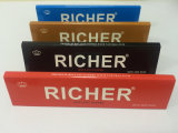 Richer FSC Ultra Slim King Size Cigarette Rolling Papers avec 100% naturel de la gomme arabique