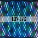 LED-videogordijn op de achtergrond