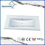 Bacia artificial de Polymarble do banheiro limpo moderno