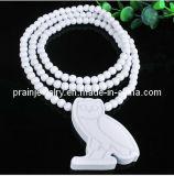 Joyería de moda de verano/ Joyería colgante con reborde de lechuza blanca de madera collares/ Collar con cordón de las cadenas de la cadena (PN-044)