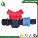 Vávula de bola agrícola de la irrigación por goteo de la fabricación 16m m mini
