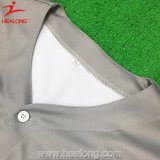 Couleur gris Healong nouvelle conception de jersey shirt américaine de baseball