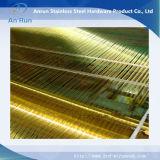 Fábrica de cobre amarillo del paño de acoplamiento de alambre