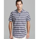 Nouveau Style d'hommes Plaid Loisirs Shirt à manches courtes