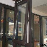 Profilo di alluminio della rottura termica esternamente aperto e finestra appesa superiore, finestra di alluminio, finestra K05014