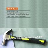 La mano del hardware della costruzione H-135 lavora il tipo francese martello da carpentiere con la maniglia della vetroresina