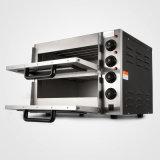 solide commercial du paquet 220V-240V de double d'acier inoxydable de four de traitement au four de la pizza 3000W
