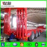 3 Aanhangwagen van de Vrachtwagen van de Container van de as 20FT 40FT 45FT 60ton de Lage Flatbed Semi met het Slot van de Container