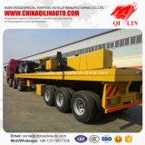 de 20FT 40FT de conteneur de lit plat exportation de remorque semi vers le Brunei