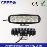 9-32V 6inch 18W 소형 LED 자동 일 표시등 막대