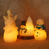 Kerze der WeihnachtsSchneemann-Form-LED im drahtlosen Kerze-Wärmer für Großverkauf, 4 Satz