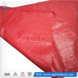 sac 50kg tissé par pp rouge pour les haricots de empaquetage