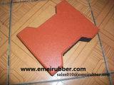 Циновки Paver прочной красной напольной подъездной дороги резиновый