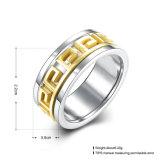 Hete Buitenlandse Handel 316 van de Verkoop de Geplateerde Ring van het Roestvrij staal Goud voor Mensen