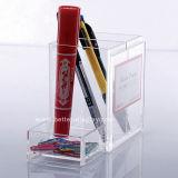 Cube de papier peint acrylique transparent avec trou de stylo (BTR-H1028)