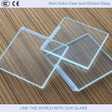 8mm Clear Acid Etched Float Glass / Verre / verre décoratif