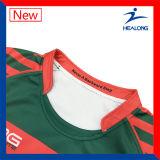 Le modèle le plus neuf de Healong des uniformes d'équipe de sublimation de Jersey de rugby
