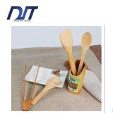 Het Embleem Vriendschappelijke Eco van de douane Geen het Koken van het Bamboe van de Verf Reeks van de Lepel