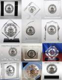 中心の形の甘い水晶ギフトのクロックM-5138骨組クロックキットビジネス記念品のサービス品