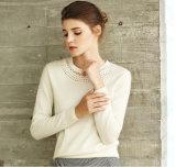 女性の円形の首のカシミヤ織のセーター(13brdw032)