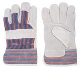 Matériels de sûreté de jardinage en cuir de gants de peau de vache fendue