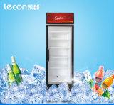 음료를 위한 바퀴를 가진 단 하나 유리제 문 전시 냉각기