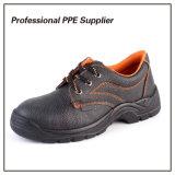 Zapato de seguridad de cuero barato escotado de la inyección de la PU