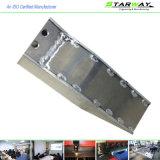 Изготовленный на заказ почищенные щеткой металлом части Fabricaton металлического листа