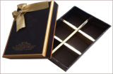 Boîte-cadeau de empaquetage de gâteau de papier de carton avec la bande