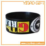 Zoll geprägter SilikonWristband mit Drucken-Firmenzeichen (YB-SW-13)