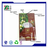 플라스틱 Resealable 지퍼를 가진 지플락 식품 포장 부대를 위로 서 있으십시오