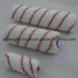rullo di vernice di nylon della banda rossa di 180mm con la maniglia di plastica